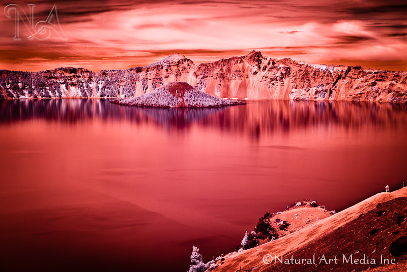 Wizard Island in Infrared